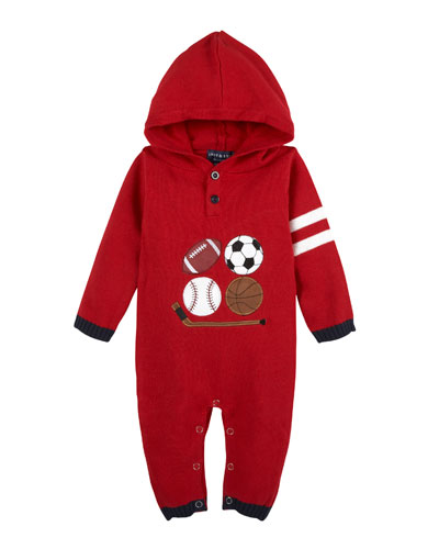 Sports Hooded Coverall, Size 3-24 Months