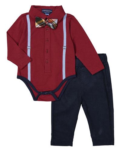 """Galaxy Polo Shirtzieâ""""¢ w/ Pants, Size 3-24 Months"""