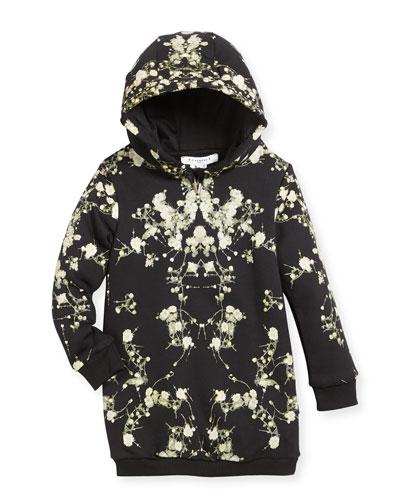 Baby's Breath Hooded Sweatshirt Dress, Size 6-10