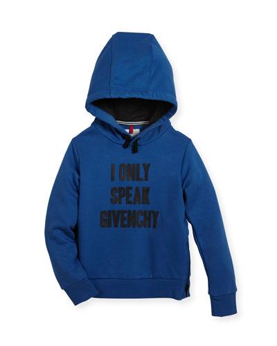 I Only Speak Givenchy Hooded Sweatshirt, Size 12-14