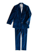 Mod Velvet Two-Piece Suit, Size 2T-14