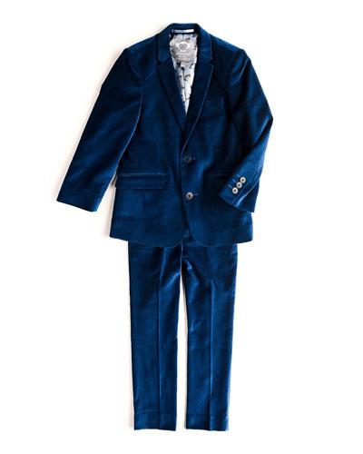Mod Velvet Two-Piece Suit, Size 2T-14