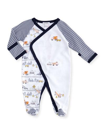 Kissy Kissy City Demo Pima Footie Pajamas, Size Newborn - 9M