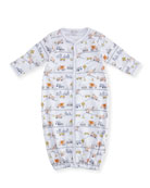 City Demo Convertible Pima Gown, Size Newborn-Small