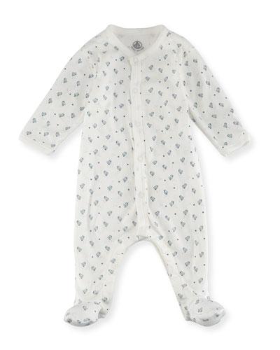 Petit Bateau Little Chicks Printed Footie Pajamas, Size Newborn - 9m