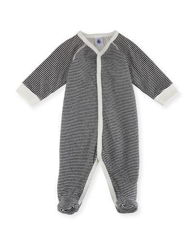 Striped Footie Pajamas, Size Newborn-6M