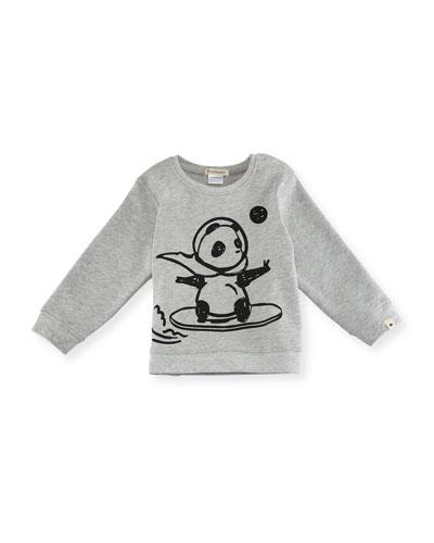Space Panda Sweatshirt, Size 2-3