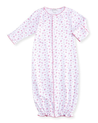 Autumn Breeze Convertible Pima Sleep Gown, Size Newborn-Small