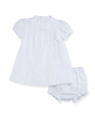 Swiss Dot Dress w/ Bloomers, Size 3-24 Months
