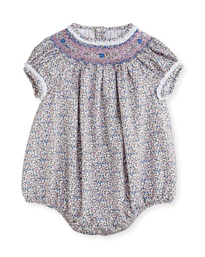 Floral Bubble Playsuit, Size 3-24 Months