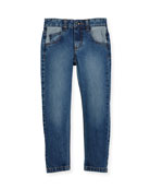 Patchwork Denim Jeans, Size 4-8