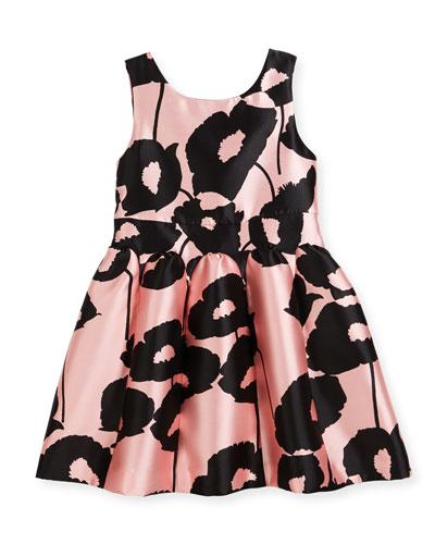Poppy Floral-Print Party Dress, Size 4-7