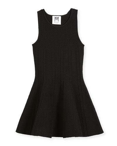 Textured Godet Dress, Size 8-14