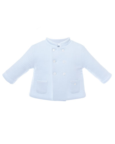 Double-Breasted Quilted Coat, Size 3-24 Months