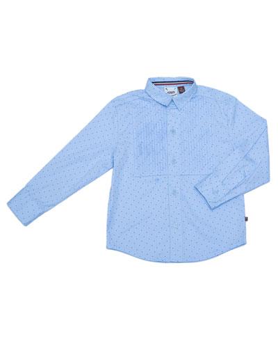 Pin Dot Tuxedo Shirt, Size 2-8