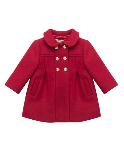 Double-Breasted Dress Coat, Size 12M-4T