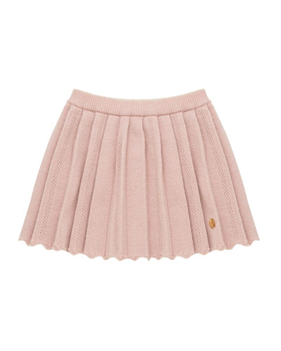 Pleated Knit Skirt, Size 12M-4T