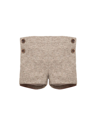 Boys' Tweed Shorts, Size 12M-3T