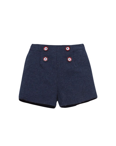 Flat-Front Dress Shorts, Size 12M-3T