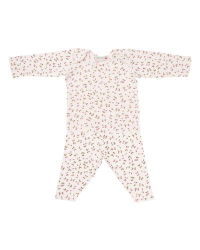 Cherry-Print T-Shirt w/ Leggings, Size 1 Month-2T