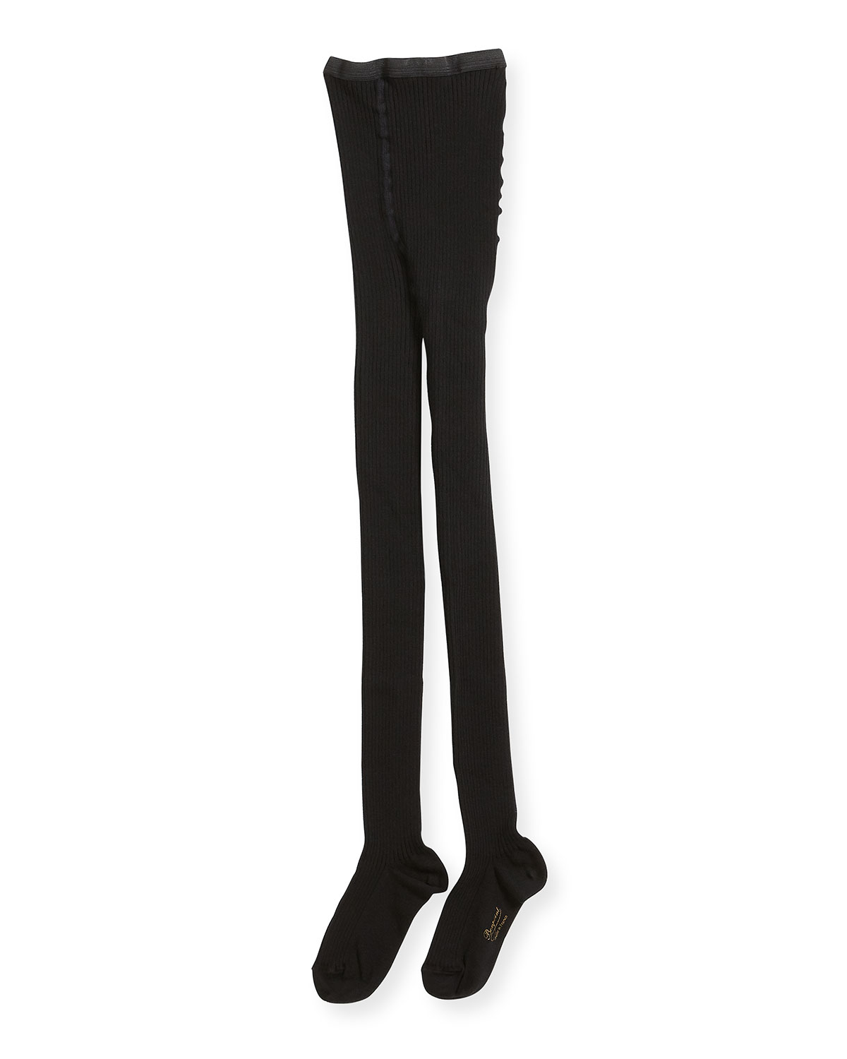 Bonpoint GIRLS' RIBBED STRETCH TIGHTS