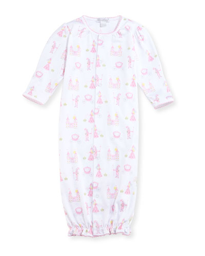 Enchanted Princess Convertible Pima Sleep Gown, Size Newborn-Small