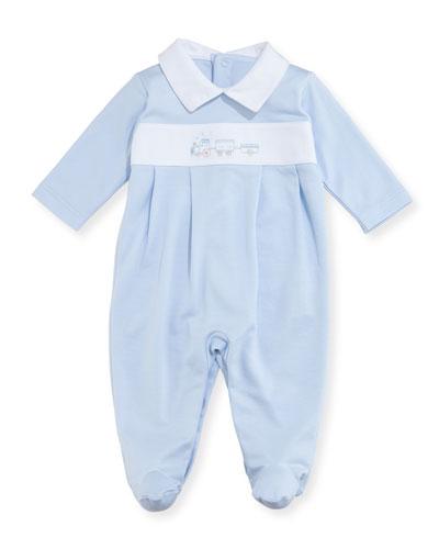 Steam Engine Footie Pajamas, Size Newborn-9M