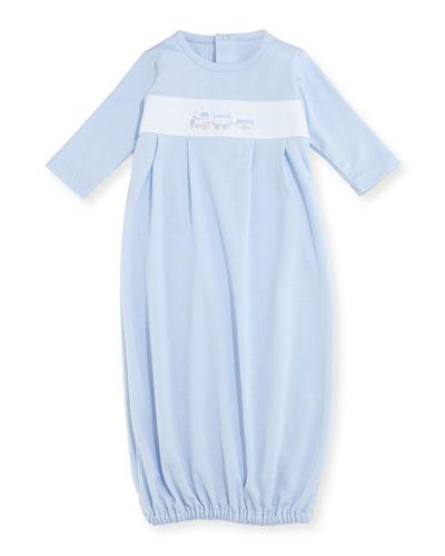 Steam Engine Pima Sleep Gown, Size Newborn-Small
