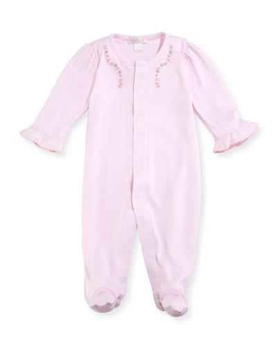 Belle Fleur Footie Pajamas, Size Newborn-9M