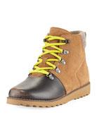 Girls' Hilmar Waterproof Suede Boot, Youth Sizes 10T-6Y