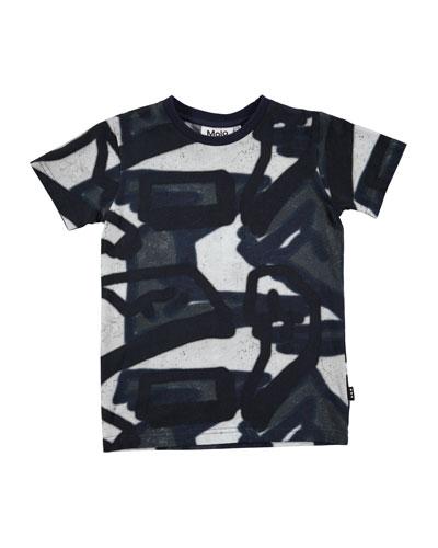 Ravento Short-Sleeve Graffiti Shirt, Size 4-12