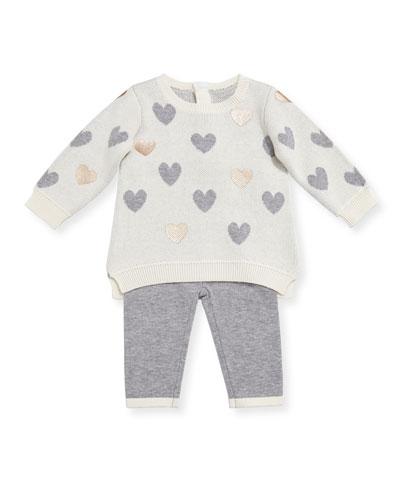 Heart Sweater w/ Leggings, Size 3-9 Months