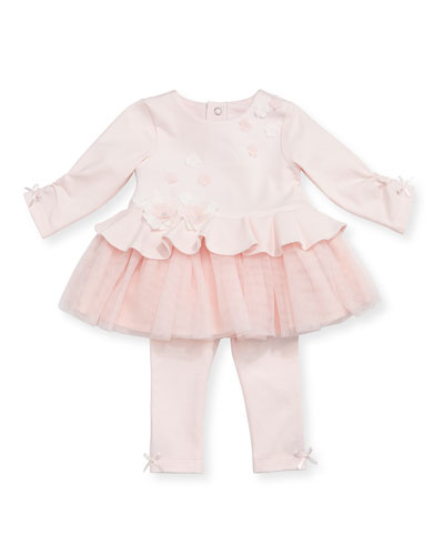 Tutu Flower Top w/ Leggings, Size 3-24 Months