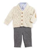 Cardigan Layette Set, Size 9-24 Months