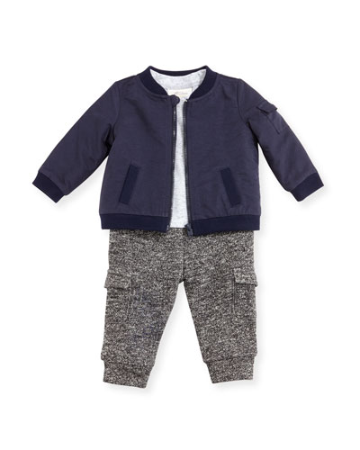 Jacket, Knit Shirt & Pants Layette Set, Size 6-24 Months