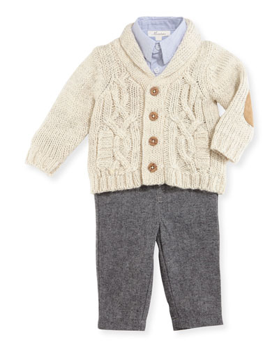 Cardigan Layette Set, Size 2-4