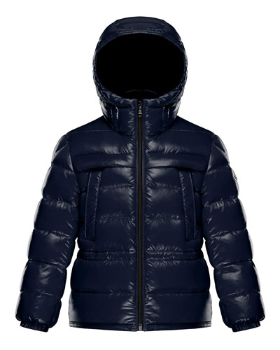 Gibran 2 Hooded Quilted Coat, Navy, Size 4-6