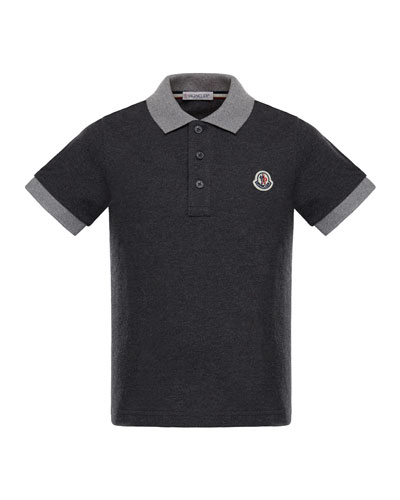 Maglia 2 Two-Tone Short-Sleeve Polo, Size 8-14