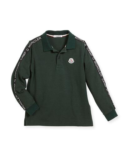 Maglia Long-Sleeve Logo Polo, Size 8-14