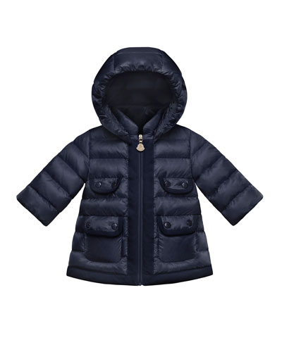 Maevant Quilted Coat, Navy, Size 12M-3T