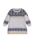 Abito Tricot Wool-Blend Dress, Size 12M-3T