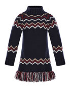 Abito Tricot Wool-Cashmere Knit Dress, Sizes 8-14