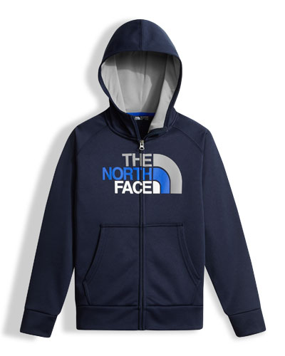 The North Face Surgent Full - Zip Hoodie, Boys' Size XXS - XL