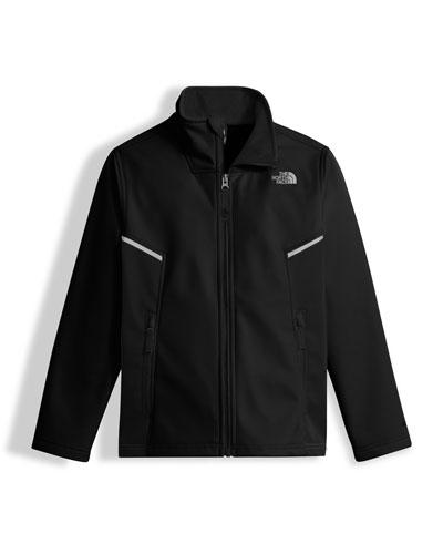 Boys' Apex Bionic Jacket, Black, Size XXS-XL