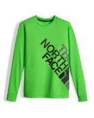 Boys' Long-Sleeve Logo Reaxion Tee, Green, Size XXS-XL