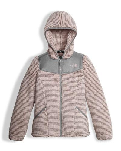 Oso Striped Fleece Zip Hoodie, Pink, Girls' Size XXS-XL