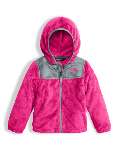 The North Face Girls' Oso Fleece Zip Hoodie, Pink, Size 2 - 4T