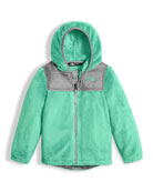 Girls' Oso Fleece Zip Hoodie, Green, Size 2-4T
