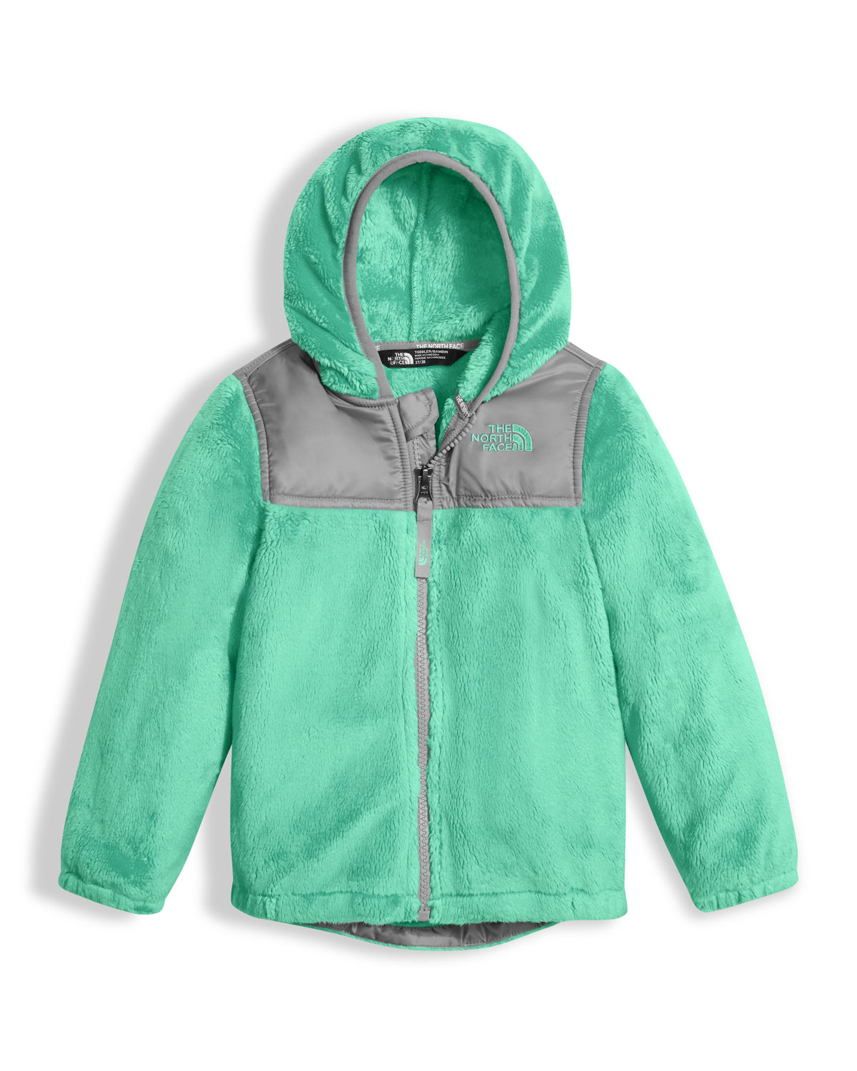 The North Face Girls' Oso Fleece Zip Hoodie, Green, Size 2 - 4T