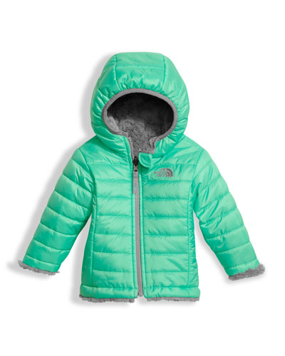 The North Face Reversible Mossbud Swirl Jacket, Green, Size 3 - 24 Months